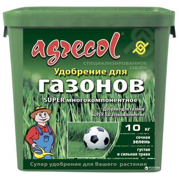 Удобрение 20-5-9,4 Агрекол для газонов SUPER многокомпонентное, 10 кг