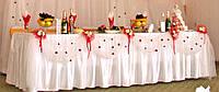 Декор свадебного стола (юбка) напрокат, фото 1