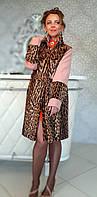 Пальто с лепардом Модель 200201926, фото 1