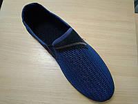 Мокасины мужские сетка синие Трафик оптом, фото 1