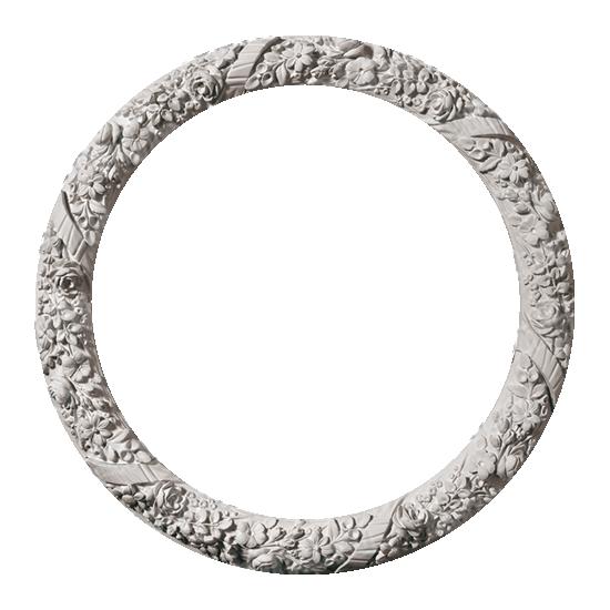 Розетка потолочная из гипса, гипсовая розетка р-174 Ø1005