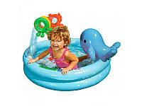 Детский надувной бассейн Intex 57400  круглый, с дельфином и игрушками