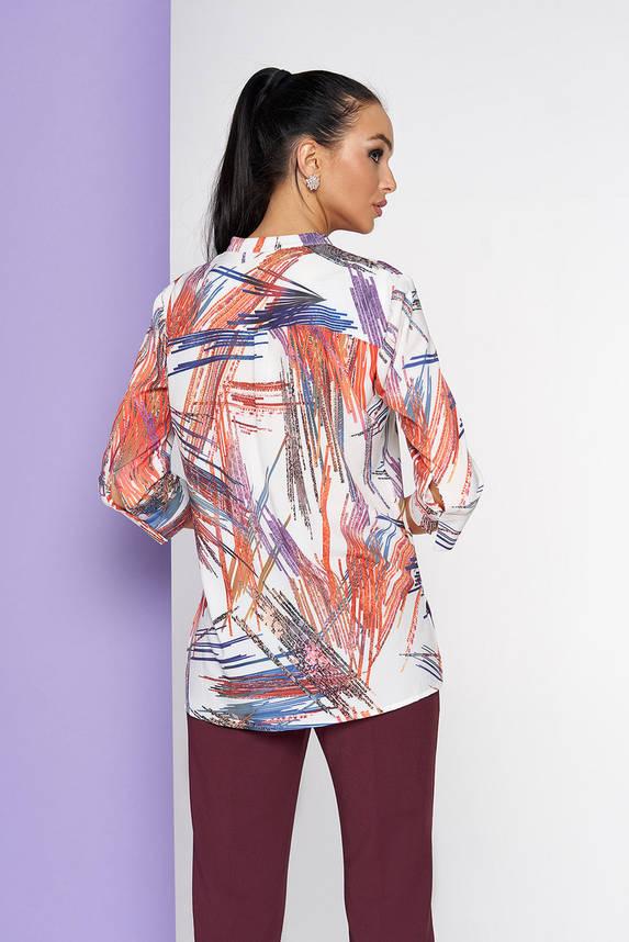 Яркая стильная блузка с удлиненной спинкой, фото 2