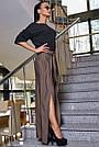 Женские молодёжные коричневые брюки, элегантные, праздничные, гламурные, нарядные, авангардные, фото 2