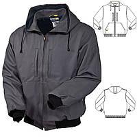 Куртка рабочая демисезонная  для ИТР черная с капюшоном пошив под заказ