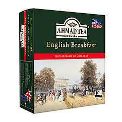 Чай Ахмад 100 пакетиков Английский к завтраку чёрный 100 х 2 г