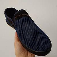 Мокасины мужские сетка синие Украина оптом, фото 1