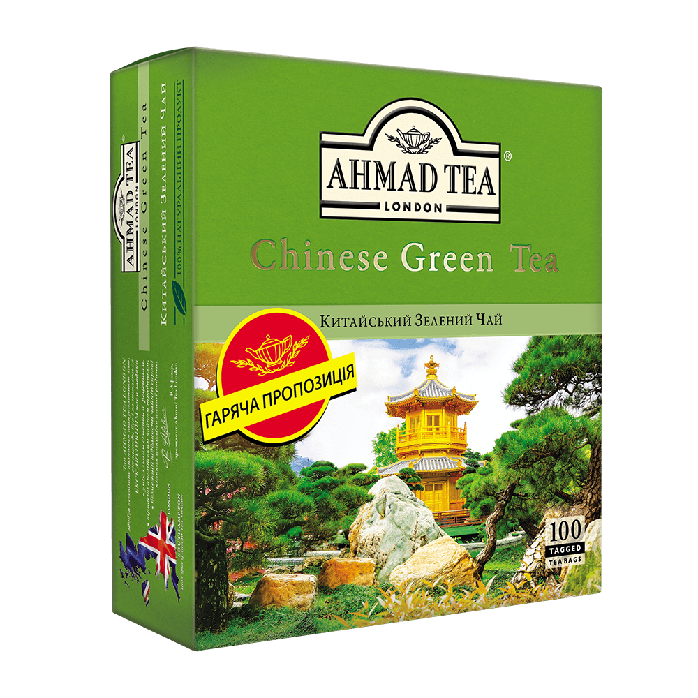 Чай Ахмад зеленый в пакетиках 100 x 1.8 г