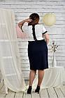 Синьо-білий костюм 0444-1 Плаття і жакет, фото 4