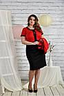 Червоний костюм 0444-3 Плаття і жакет, фото 2