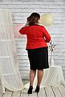 Червоний костюм 0444-3 Плаття і жакет, фото 3