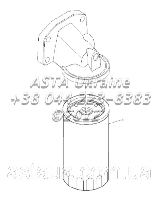 ДВИГАТЕЛЬ REMOTE LUBRICATING OIL FILTER 1104C-44T, RG38101 G1-10-1