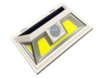 Cветильник на солнечной батарее настенный LED 10W COB белый