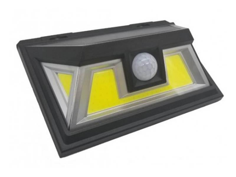 Світильник на сонячній батареї настінний LED 10W COB чорний