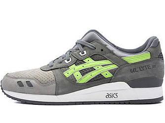 Мужские кроссовки ASICS GEL LYTE III FLOURESCENT GREEN (Реплика ААА+)