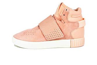 Женские кроссовки Adidas Tubular Invader Pink (Реплика ААА+)