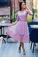 Стильное праздничное платье (2 в 1) для девушек - 2019  - Код пл-562, фото 1