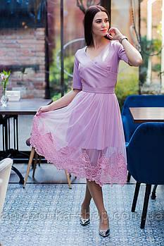 Стильное праздничное платье (2 в 1) для девушек - 2019  - Код пл-562