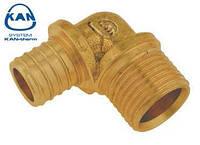 """KAN-therm отвод Push для перехода на медную трубку 18х2,0 мм х 15Cu - G1/2"""" НР, 9006.65B"""