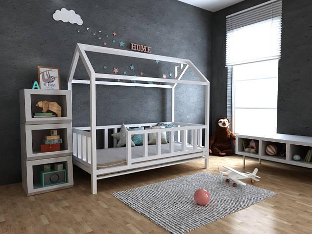 ✅Детская Деревянная кровать домик Тедди 70х140 см ТМ MegaOpt, фото 2