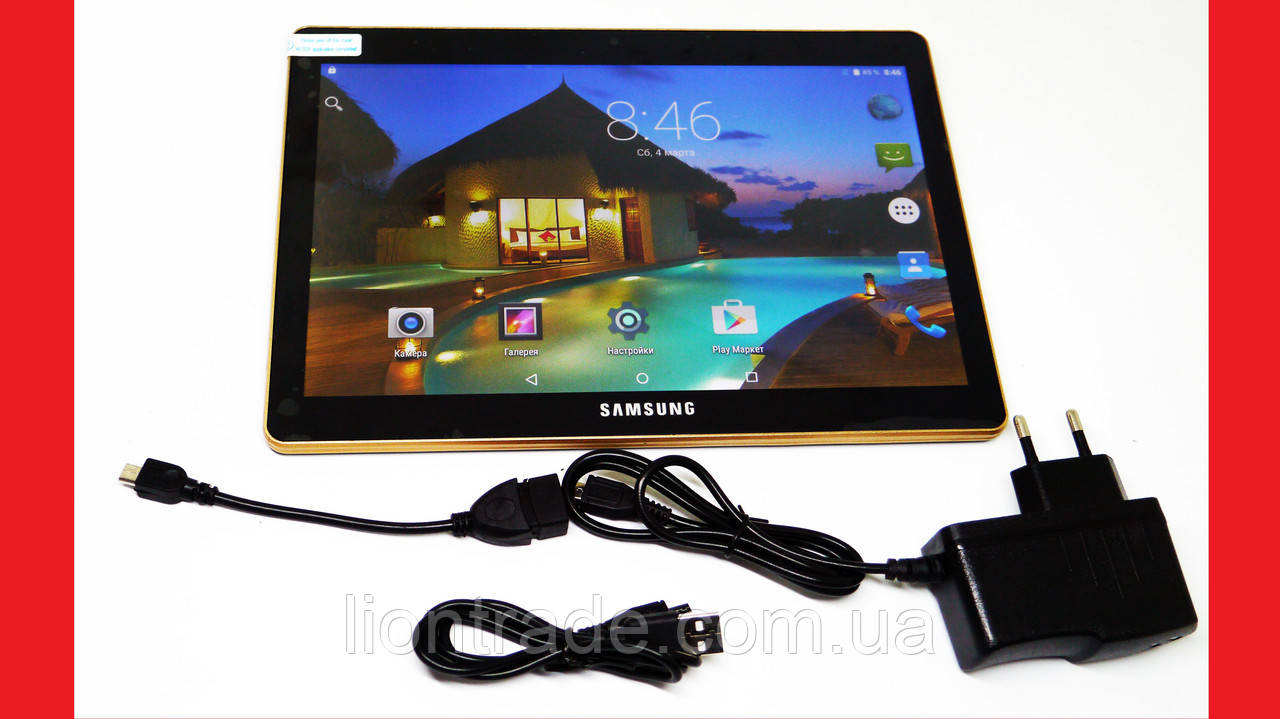 "10,1"" Планшет-телефон Samsung Galaxy Tab Black 2Sim - 8Ядер+2GB Ram+16Gb ROM+GPS"