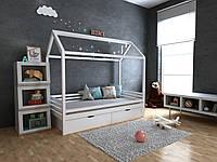✅Детская Деревянная кровать домик Китти с ящиками 70х140 см ТМ MegaOpt