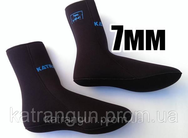 Носки для подводной охоты KatranGun Hunter Anatomic (анатомические) 7 мм; нейлон/открытая пора