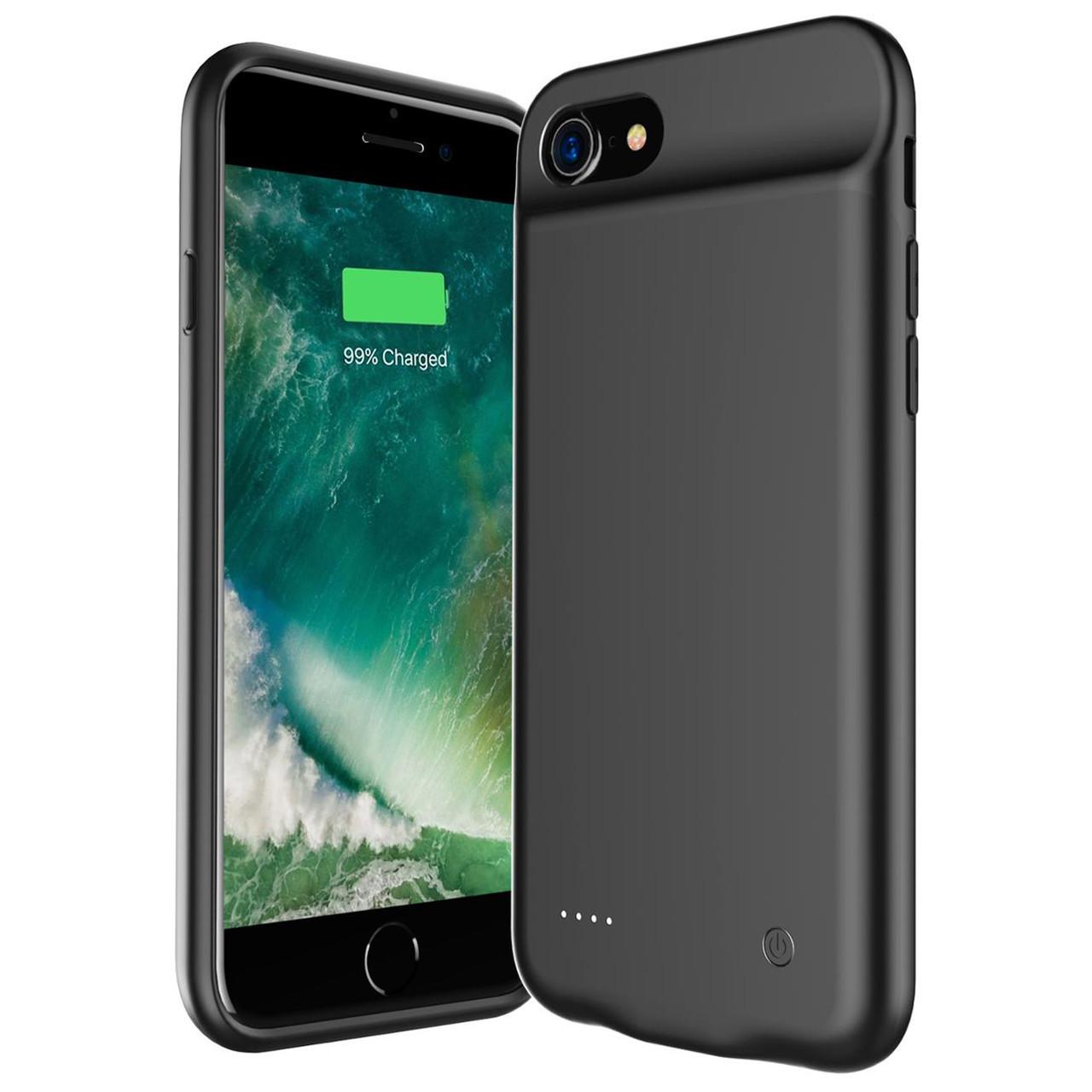 Аккумулятор чехол Power Bank AmaCase для Apple iPhone 7 Black (3000 мАч)