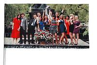 Флажок с  фото 24 см х 13 см