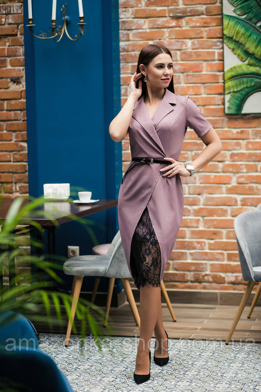 Элегантное женское платье с вышивкой - модель 2019  - Код пл-281