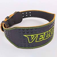 Пояс для пауэрлифтинга кожаный Velo 8180: размер M-XXL