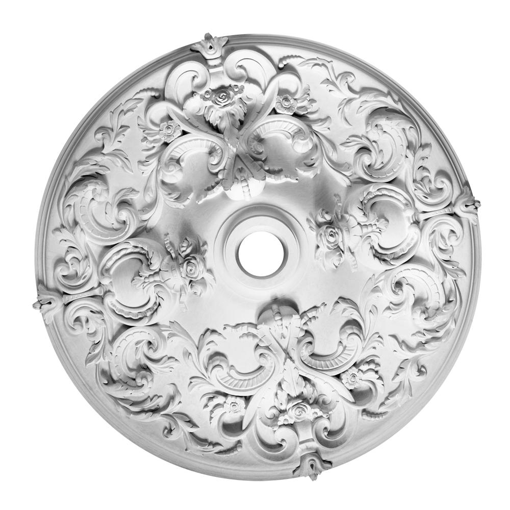 Розетка стельова з гіпсу, гіпсова розетка  р-214 Ø700