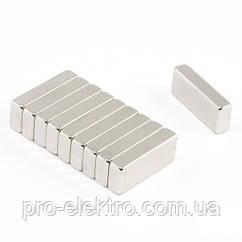 Неодимовий магніт прямокутник 25х10х6 мм