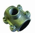 ANB 1x1/2x3/4 Чугунная ремонтно-монтажная обойма с резьбовым отводом для стальной трубы (GEBO)