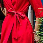 Элегантное женское платье на запах- модель 2019  - Код пл-280, фото 2