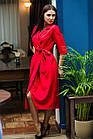Элегантное женское платье на запах- модель 2019  - Код пл-280, фото 3