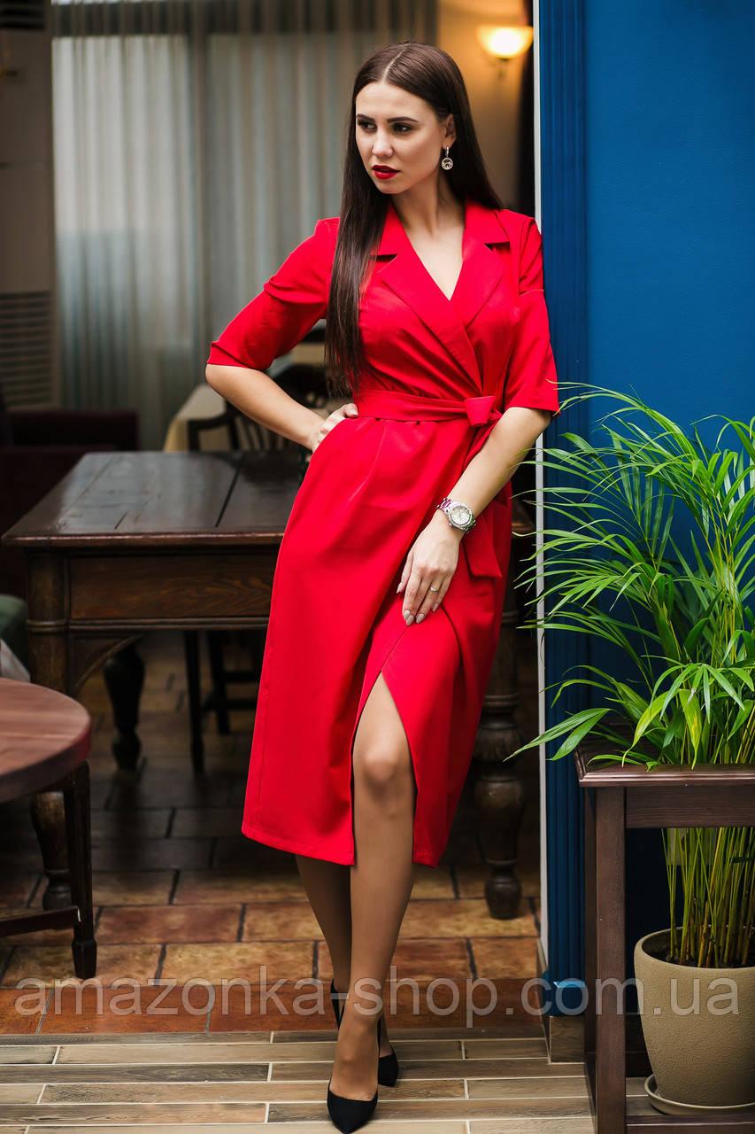 Элегантное женское платье на запах- модель 2019  - Код пл-280
