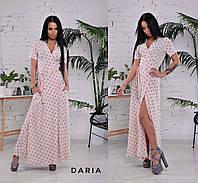 Платье на запах в пол модный принт горошек разные расцветки Smch3128, фото 1