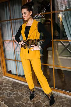 Нарядный женский костюм с вышивкой - модель 2019  - Код км-280