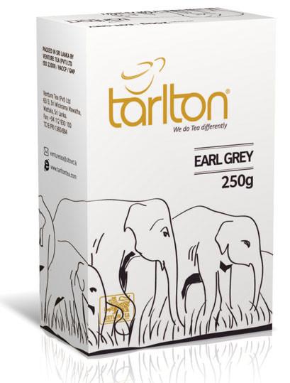 Чай черный среднелистовой Тарлтон Earl Grey с бергамотом 250 г