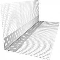 Уголок ПВХ перфорированный с сеткой 3 м