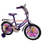 Детский велосипед Mustang Принцесса 16 дюймов фиолетовый, фото 3