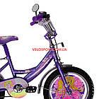 Детский велосипед Mustang Принцесса 16 дюймов фиолетовый, фото 4