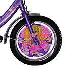 Детский велосипед Mustang Принцесса 16 дюймов фиолетовый, фото 5