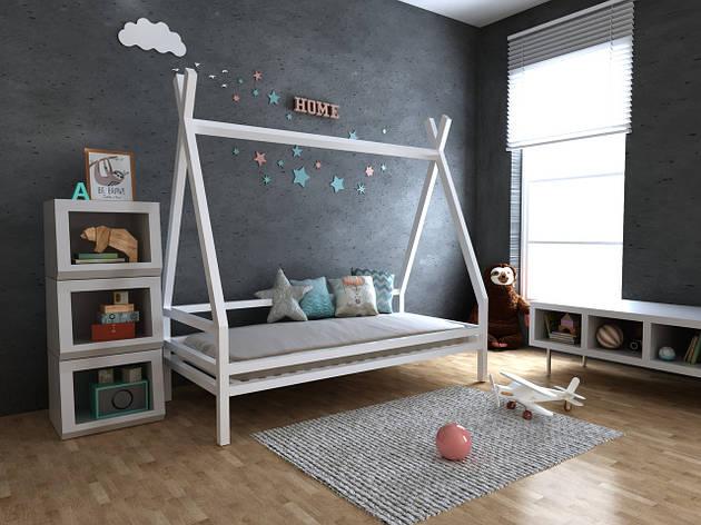 ✅Детская Деревянная кровать домик-Вигвам Моана плюс 70х140 см ТМ MegaOpt, фото 2