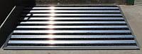 Алюминиевая грязезащита для улицы «Лен» наполнение (текстиль+три скребка)
