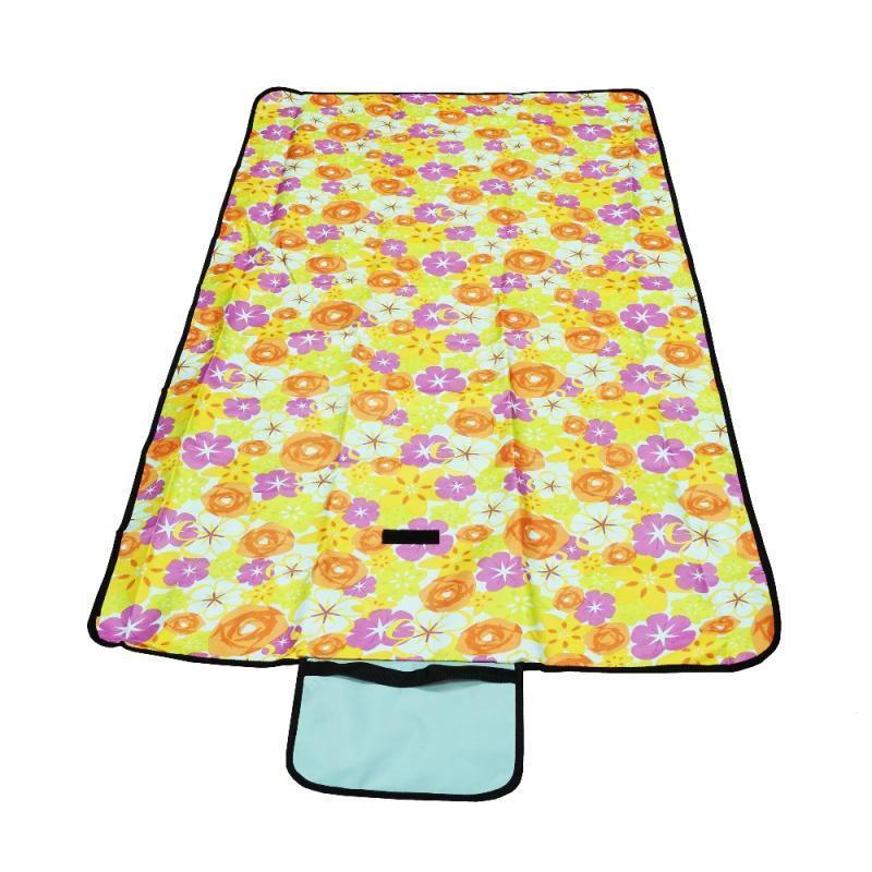 Пляжный коврик, цвет - желтый (145 х 80 см), коврик для пикника, подстилка для пляжа
