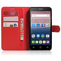Чехол-книжка Litchie Wallet для Alcatel One Touch Pop 3 5025D (5.5) Красный