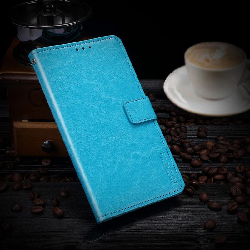 Чохол книжка Idewei для Samsung A6 Plus 2018 Бірюзовий