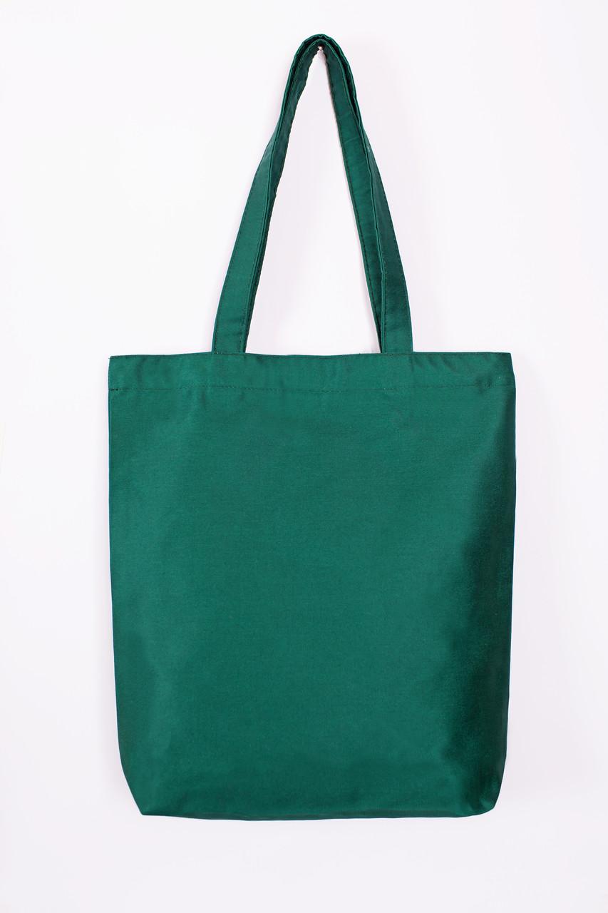 Сумка из  саржи с дном Eurotorba, размер 35*7*37 см, Зеленый